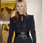 Kate Moss rocks bondage belt at LFW party