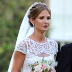 Millie Mackintosh's vintage lace Alice Temperley gown