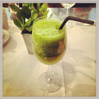 Rosie Huntington-Whiteley's morning green juice