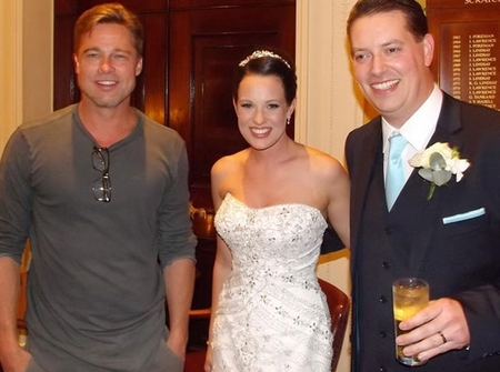Brad Pitt crashes wedding