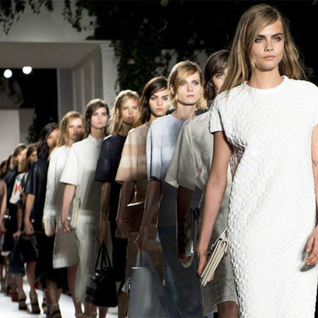 Cara Delevingne at Mulberry SS14 LFW