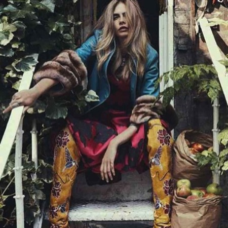 Cara Delevingne poses for Vogue Australia
