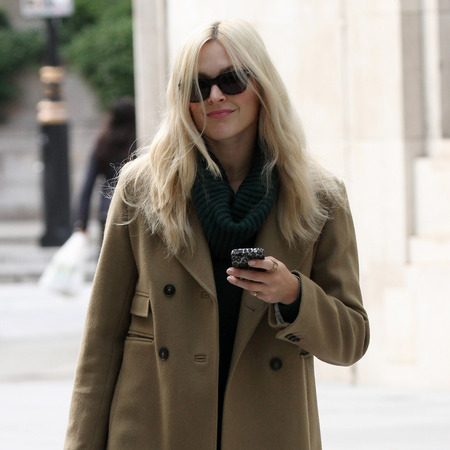 Fearne Cotton wears camel coat on arrival at Radio 1 studios