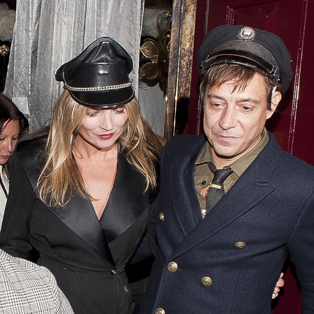 Kate Moss and Jamie Hince wear fancy dress on a night out in London