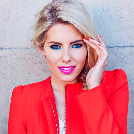 Mollie King for Maybelline and Vodafone Fashion Weekend