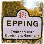 Epping. End of the Central line & our wedding venue