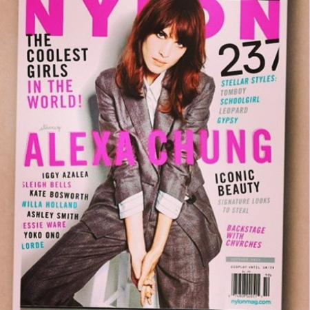 Alexa Chung covers Nylon magazine