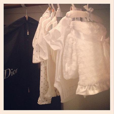 Nadine Coyle baby wardrobe designer Dior