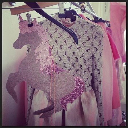 Caroline Flack unicorn handbag by Sophia Webster