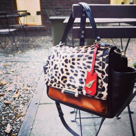 Diane von Fürstenberg's Highline Courier Leopard Haircalf Bag AW13
