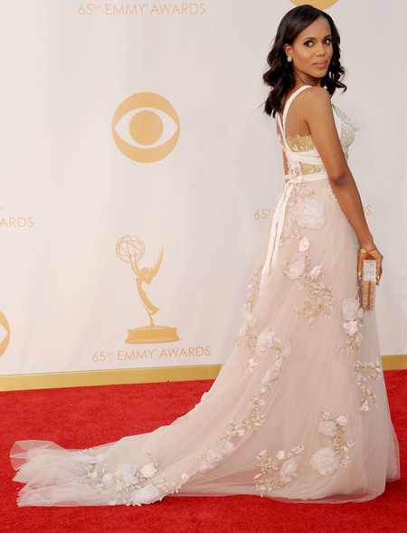 Kerry Washington in Marchesa at Emmy Awards 2013