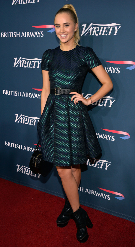 Suki Waterhouse in Mulberry at British Airways party