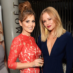 Cheryl Cole supports Kimberly Walsh in red lace