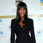 Naomi Campbell is super-chic in all over black