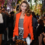 Paris Fashion Week: Olivia Palermo in orange Dior