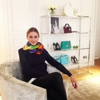 Olivia Palermo bag shopping in Christian Dior