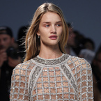 Rosie Huntington-Whiteley debuts Balmain's natural look