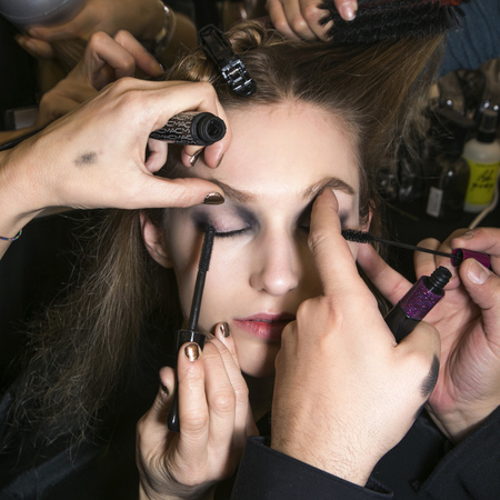 Backstage makeup at Elie Saab AW13
