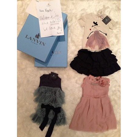 Kim Kardashian reveals North West's lanvin baby wardrobe