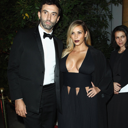 Kim KArdashian with Ricardo Tisci at Mademoiselle C' cocktail party, PFW