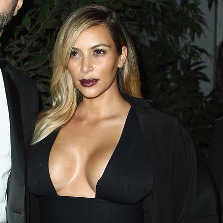 Kim KArdashian with Ricardo Tisci at Mademoiselle C' cocktail party, PFW