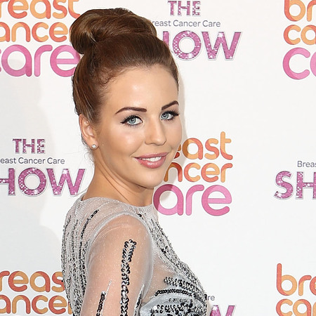 Lydia Bright at Breast Cancer Care Fashion Show wearing Bella Sorella dress