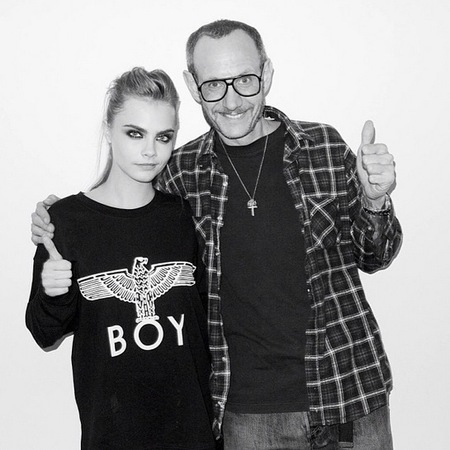 Terry Richardson with Cara Delevingne