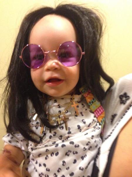 Jack Osbourne's daughter Pearl dressed as Ozzy Osbourne