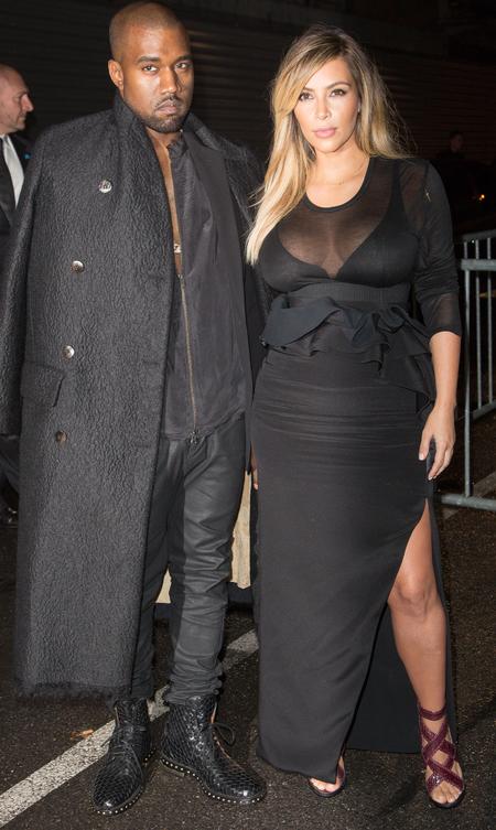 Kim and Kanye do all black