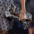Stella McCartney's lace daisy clutch bag at PFW SS14