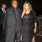 Kim Kardashian's sheer LBD at Paris Fashion Week