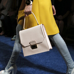 Miu Miu's ladylike nude handbag at PFW SS14