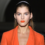 Yet more orange lipstick at Paris Fashion Week