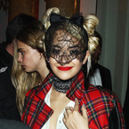 Rita Ora rocks tartan and lace at PFW