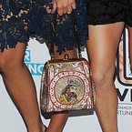 Rita Ora's Dolce & Gabbana king bag at Unity gig