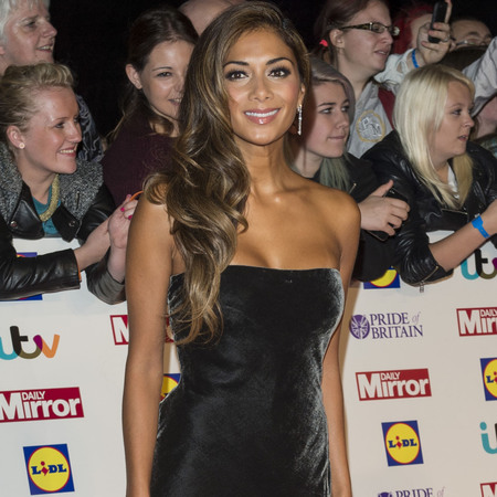 Pride of Britain Awards 2013 Nicole Scherzinger black velvet dress