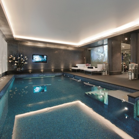 Spa and swimming pool at House 20, Cornwall Terrace, London - interiors - handbag.com