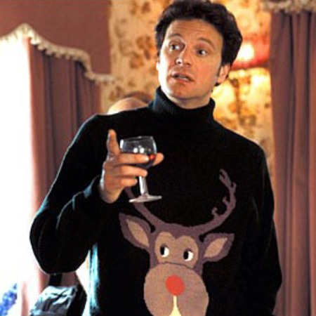 Colin-Firth-Christmas-Jumper-Sweater - knitwear in films - handbagcom