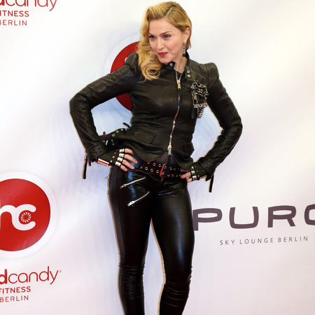 Madonna - leather - Hard Candy Fitness In Berlin - handbagcom