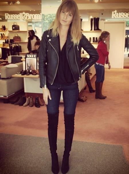 Millie Mackintosh - thigh high boots - russell and bromley - handbag,com
