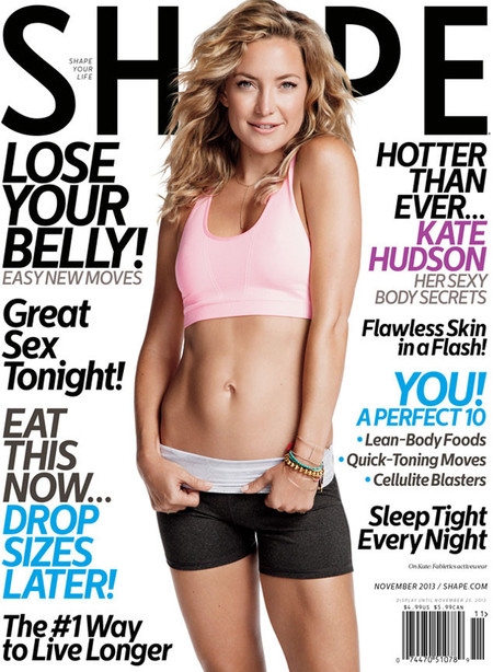 Kate Hudson on Shape magazine