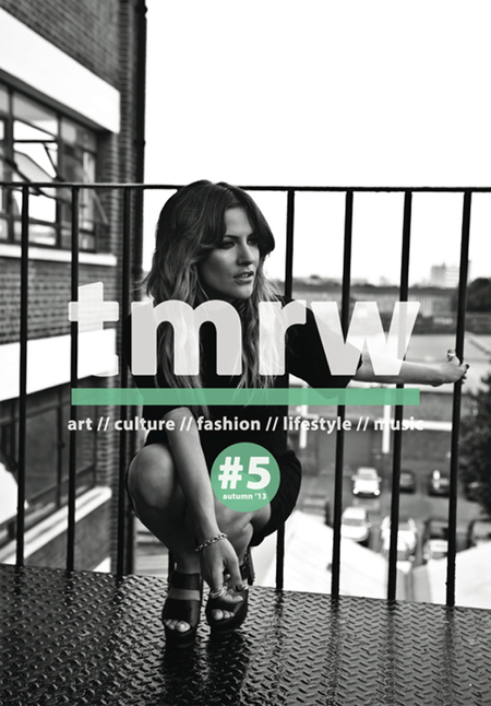 Caroline Flack - TMRW magazine cover shoot - black and white - handbag.com