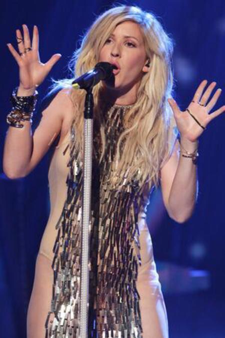 Ellie Goulding's sheer X Factor dress