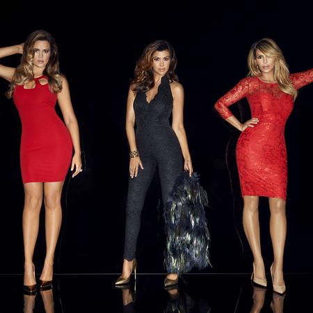 Kim Kardashian post baby body - Kourtney Kardashian - Khloe Kardashian - Kardashian Kollection for Lipsy - Christmas 2013 - handbag.com