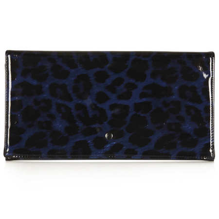Topshop black and blue transparent see-through envelope clutch bag