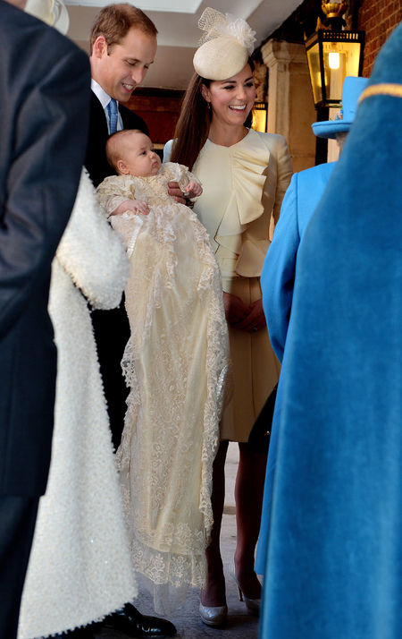 kate middleton - prince george royal christening - alexander mcqueen - handbag.com