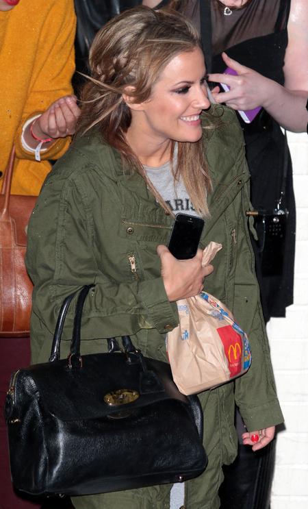 caroline flack - mulberry handbag - macdonalds - x factor 2013 - handbag.com