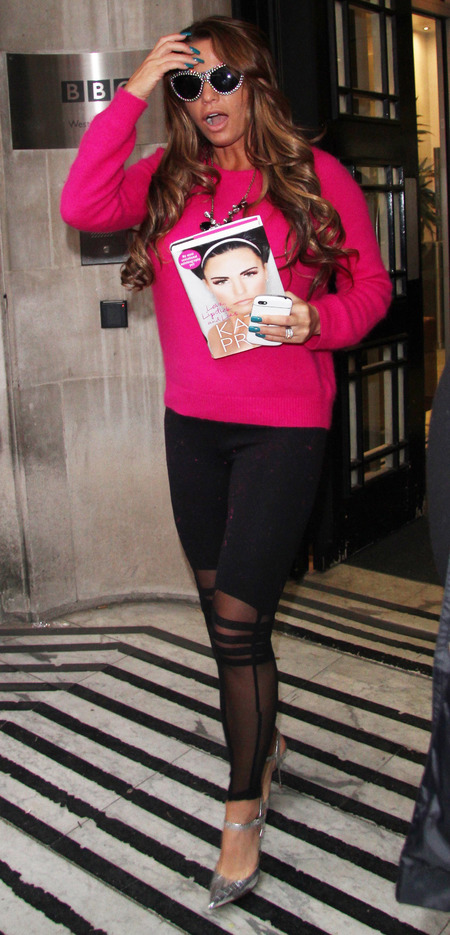 katie price autobiography - pink jumper - handbag.com