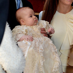 Kate Middleton matches Prince George at Christening