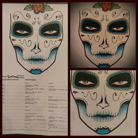 Judith Soltesz - Halloween makeup - sugarskull design - MAC facechart - handbag.com